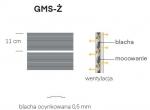 Altana śmietnikowa DUAL GMS-Ż (2 pojemniki 1100l. + 2 pojemniki 120l)