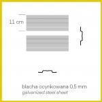 Altana śmietnikowa MIKRO GMS-L (1 pojemnik 1100l. + 1 pojemnik 120l)